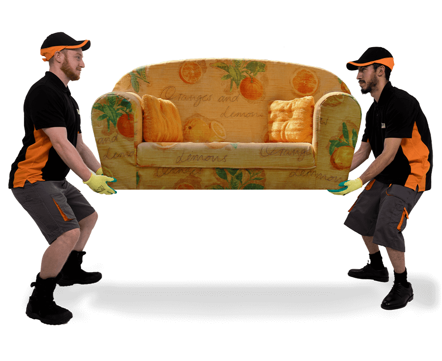 Removal men with sofa