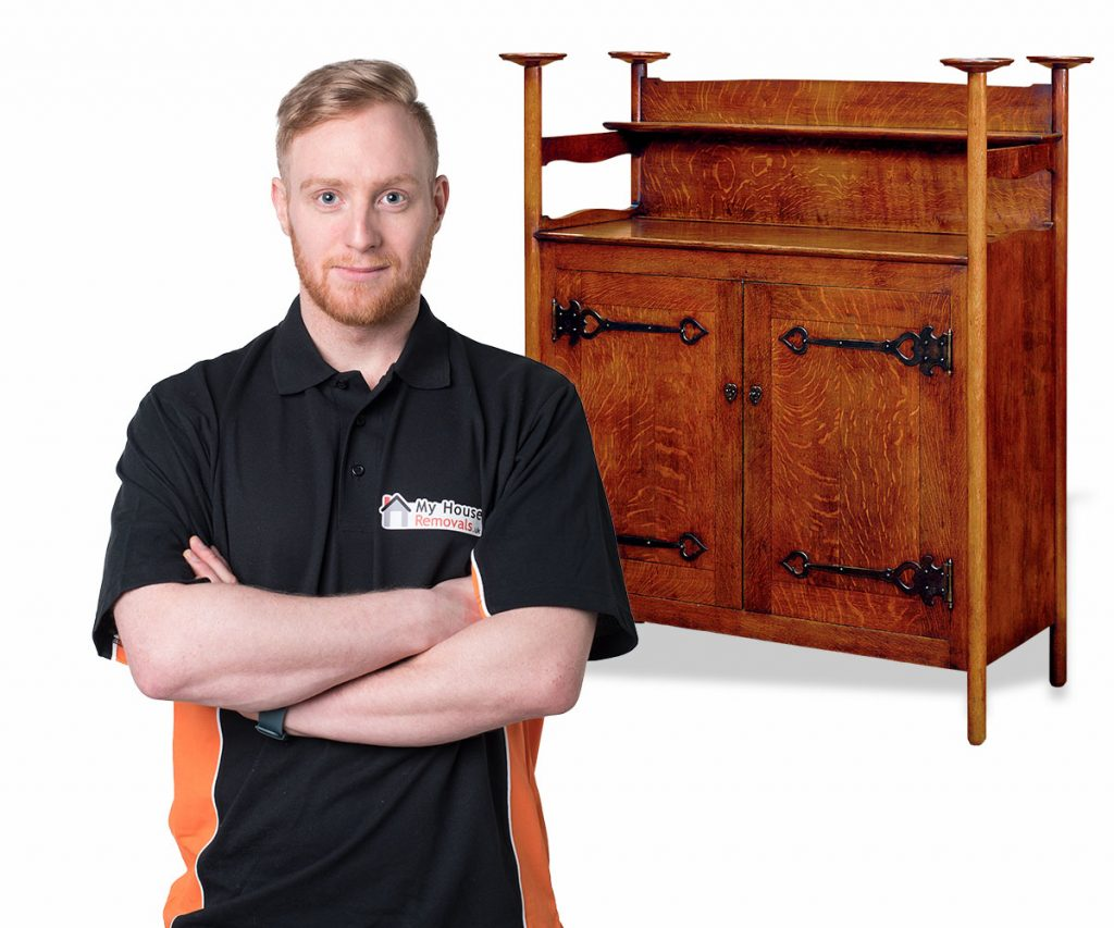 Handyman assembling furniture
